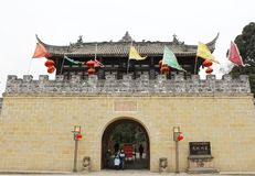 Gate Tower of ancient China Stock Photo