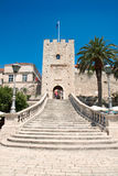 Gate tower Big Revelin in Korcula Stock Images