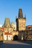 Gate tower of Charles bridge, Prague Royalty Free Stock Image
