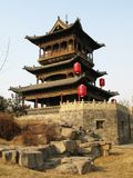 gate tower in China village Royalty Free Stock Photos