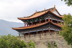 Gate tower in dali ,yunnan,cina Royalty Free Stock Photo