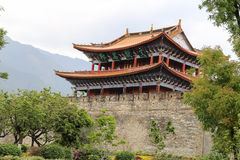 Gate tower in dali ,yunnan,cina Royalty Free Stock Image