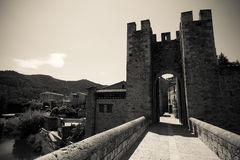 Gate tower. Imitation of old image Royalty Free Stock Photos