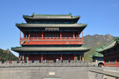 The gate tower of Juyongguan of Great Wall Royalty Free Stock Photos