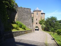 A gate tower in Luxembourg. royalty free stock photography