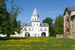 Gate Tower in Novgorod Veliky, Russia Stock Images