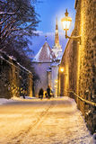 Gate tower in Tallinn in winter Royalty Free Stock Photography