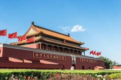 The Gate Tower of Tiananmen Stock Photo