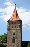 Gate Tower (Tiergartnertor) in Nuremberg Stock Image
