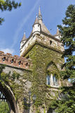 Gate tower in Vajdahunyad Castle, City Park of Budapest, Hungary. Royalty Free Stock Photos
