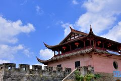 Gate tower and wall, Chinese traditional architecture Stock Photo