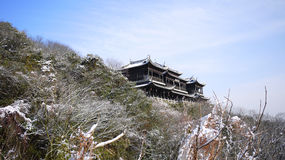 Gate tower in winter. On Yu hill Changshu China Stock Photo