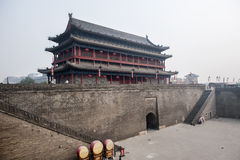 Gate tower of Xian city wall Royalty Free Stock Photo