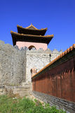 Gate Tower of ZhaoXi Tomb in the Eastern Royal Tombs of the Qing Royalty Free Stock Photo