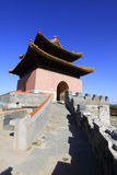 Gate Tower of ZhaoXi Tomb in the Eastern Royal Tombs of the Qing Stock Photography