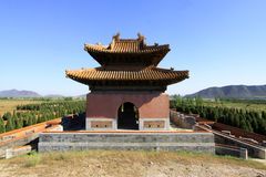 Gate Tower of ZhaoXi Tomb in the Eastern Royal Tombs of the Qing Royalty Free Stock Images