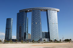The Gate Towers in Abu Dhabi Stock Photo