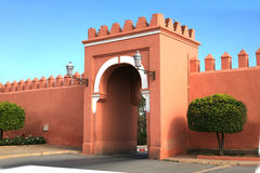 Gate in traditional oriental style in Marrakech Royalty Free Stock Images