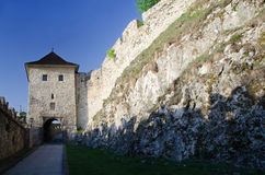 Gate of Trencin castle Royalty Free Stock Images