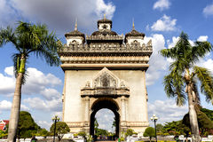 Gate of Triumph in Vientiane, Laos Stock Photography