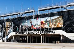 Indianapolis - Circa March 2018: Gate Two Entrance at Indianapolis Motor Speedway I. Gate Two Entrance at Indianapolis Motor Speedway. IMS Prepares for the 102nd stock photo
