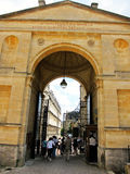 Gate of university of oxford,england Stock Photo