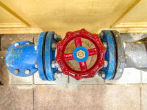 Gate valve metal and equipment. Stock Image