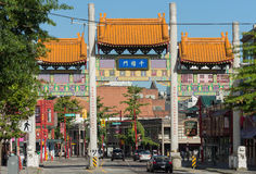 Gate of Vancouver China Town. Royalty Free Stock Image