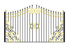 Gate in the vector Stock Images