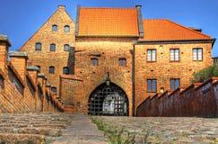 Gate view in Grudziadz. Polish Castle in Grudziadz with water gate - HDR Royalty Free Stock Photo