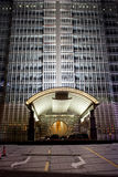 Gate view of jinmao hotel  building at night Royalty Free Stock Photography