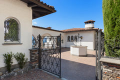 Gate of a villa Royalty Free Stock Images