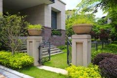 Gate of villa Stock Photo
