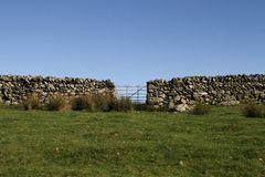 Gate and wall. Stock Photo