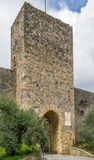 Gate in wall, Monteriggioni, Italy Royalty Free Stock Images