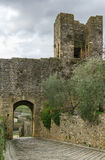 Gate in wall, Monteriggioni, Italy Royalty Free Stock Photos