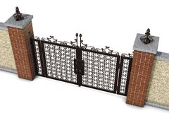 Gate and wall top Royalty Free Stock Photography