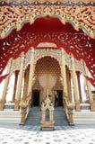 The Gate in Wat Pai Lom. The Beautiful Gate in Wat Pai Lom, Nakornprathom,Thailand Stock Image