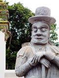 Gate way guardian giant in WAT PHO temple, BANGKOK Royalty Free Stock Photos