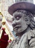 Gate way guardian giant in WAT PHO temple, BANGKOK Stock Photo