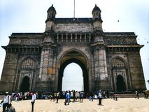 The gate way of india--- mumbai stock image