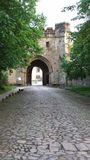 Gate way to the Abbey. Whalley Abbey Royalty Free Stock Photography