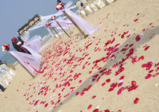 Gate for a wedding on a tropical beach Royalty Free Stock Images