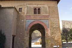 Gate of wine. Alhambra. Royalty Free Stock Photography