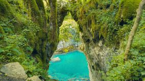 Gate of the Wishes, Mrtvica river Canyon Montenegro Wild Beauty. Nature landscape background royalty free stock photos