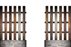 Gate in wood simple fence Stock Photography