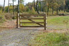 A gate of wood to protect Royalty Free Stock Photo