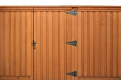 Gate in a wooden fence Royalty Free Stock Photography