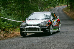 Gate7 Motorsport in Rallye Centro de Portugal Royalty Free Stock Photo