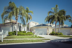 Gated community houses in Florida Royalty Free Stock Image